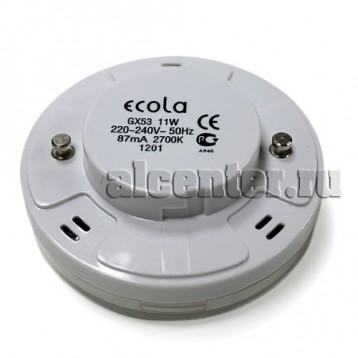 Лампа Ecola GX53 11W 2700 27х75  8000h