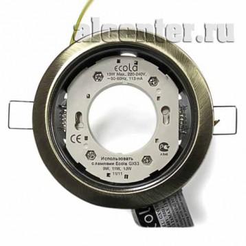 Ecola GX53-H4 светильник черненая бронза