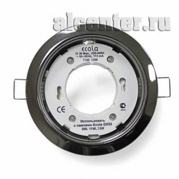 Ecola GX53-H4 светильник черный хром