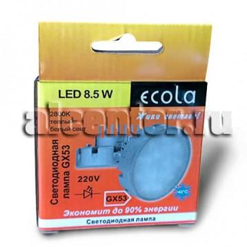 Лампа Ecola GX53 8.5W 2800 большой радиатор