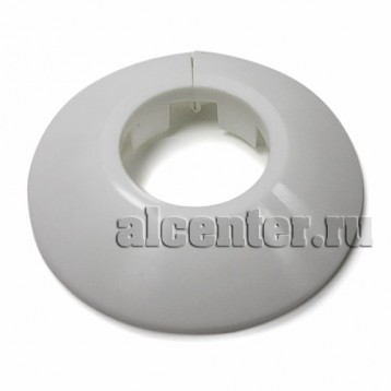 Обвод трубы декоративный белый 27 мм