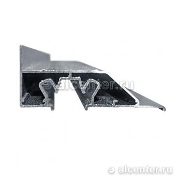 Алюминиевый профиль для двухуровневого перехода - 7.5 см с подсветкой (прозет ПЛ-75)