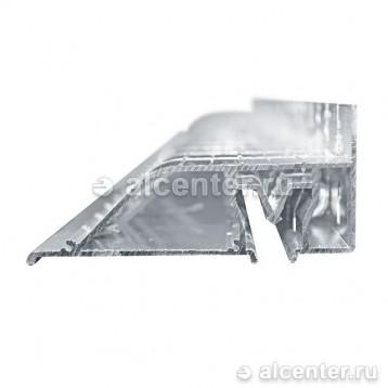 Алюминиевый профиль для двухуровневого перехода - 7 см пиленный (прозет ПП-70)