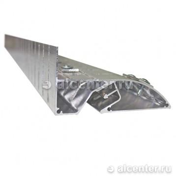 Алюминиевый бесщелевой профиль для двухуровневого перехода (напиленный)