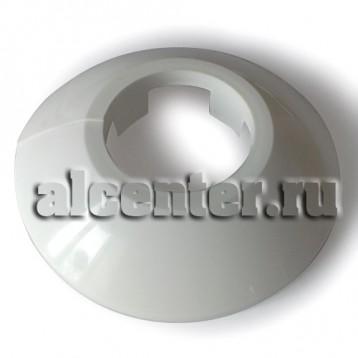 Обвод трубы декоративный белый 22 мм