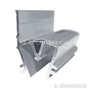 Разделительный горизонтальный профиль для световых коробов (прозет СП2)