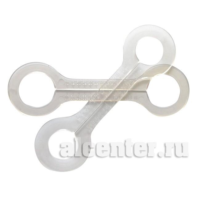 Обвод трубы косточка прозрачный 32 мм