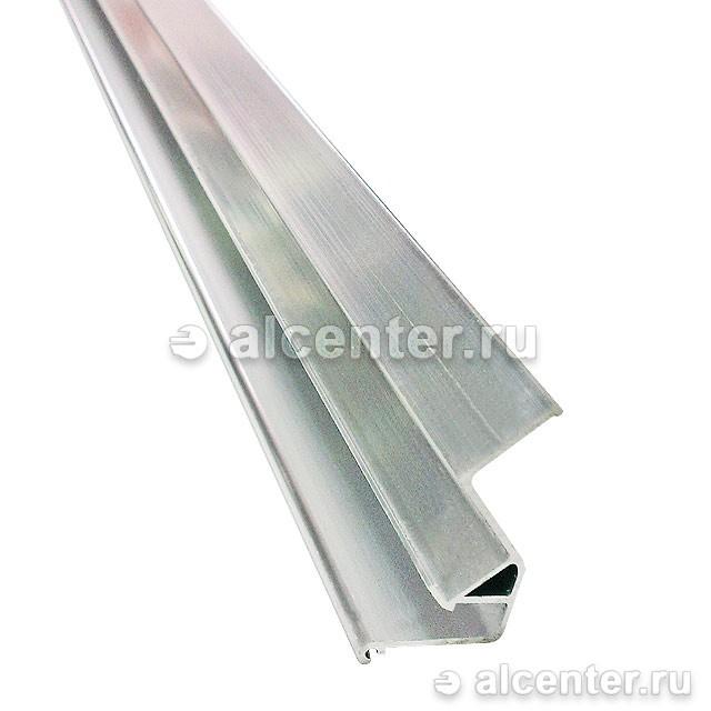 Алюминиевый багет для парящих потолков без вставки