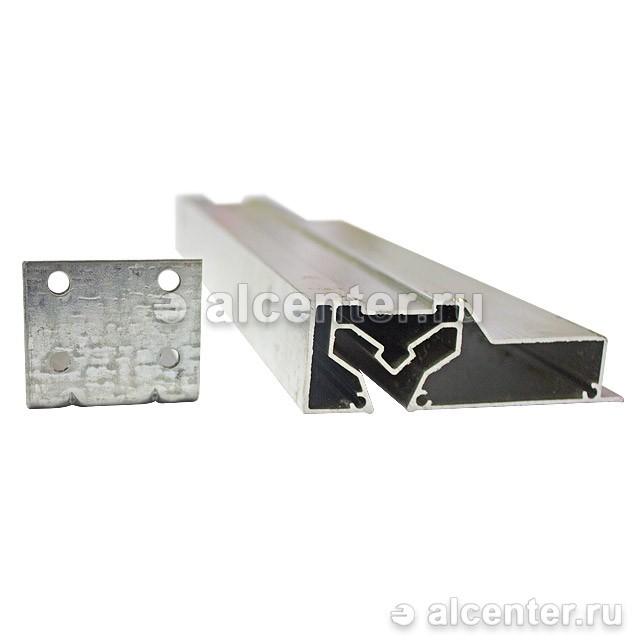 Алюминиевый профиль для двухуровневого перехода регулируемый