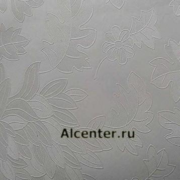 Теснение цветы белое 3.2 м.